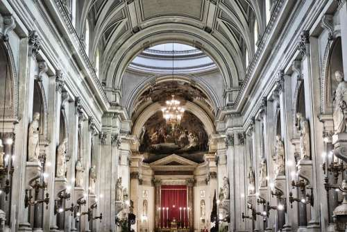 Cathedral Dom Interior Baroque Architecture