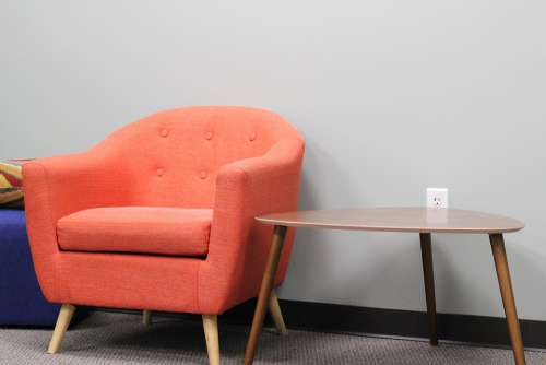 Chair Empty Room Table Sit Modern Contemporary