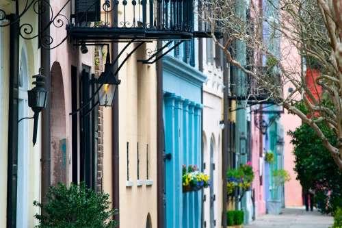 Charleston Rainbow Row Historic Landmark