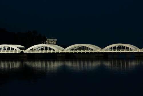Chennai Bridge Reflection Nature Travel Water