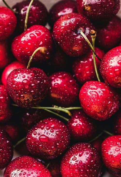Cherries Red Fruit Fruits Cherry Food Nature