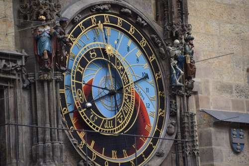 Clock Prague Landmark Antique Famous Dial