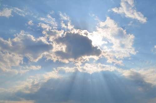 Cloud Sunshine Clouds Sky Mood Rays Light