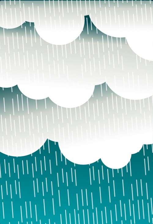 Clouds Rain Raining Weather Storm
