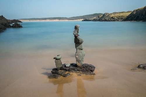 Coast Beach Ocean Nature Stones Calm Rocks