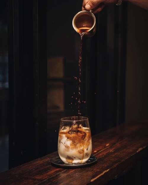 Coffee Espresso Latte Hand Drops Glass Barista