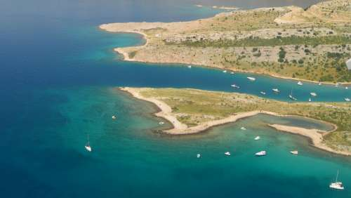 Croatia Coastline Clean Sea Water Krk Island