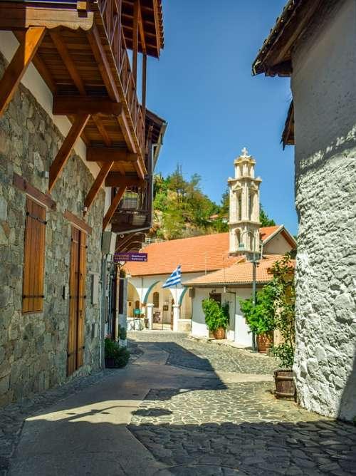 Cyprus Kalopanayiotis Architecture Street Summer