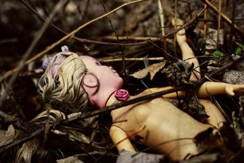 Doll Woods Dark Portrait Toy Dirty Creepy