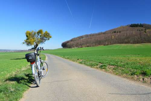 Ebike Bike Bicycle Tour Landscape Cycling