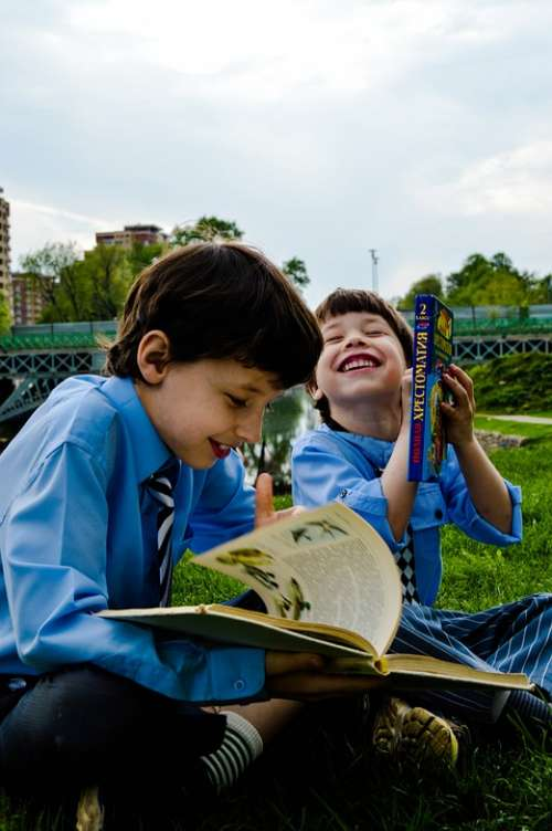 Emotions Laughter Smile Kids Read Boys Students