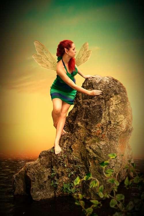 Fee Elf Woman Wing Fantasy Fairytale