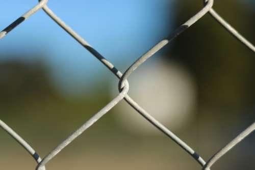 Fence Aperture Blur Wire Basketball Court
