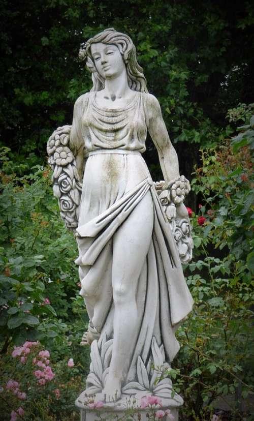 Figur Statue Sculpture Figure Angel Historically