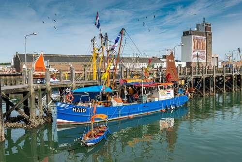 Fishing Vessel Port North Sea Fishing Boat Fishing