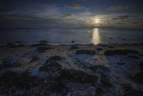 Florida Sunset Beach Water Gulf Of Mexico