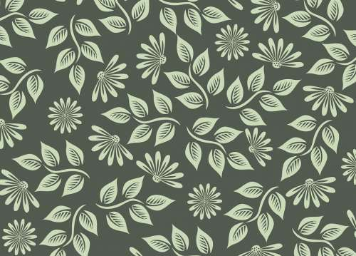 Flowers Pattern Spring Green The Background Leaf