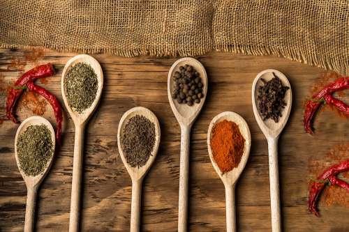 Food Food Design Wood Spice Peppers Pepper Spoon