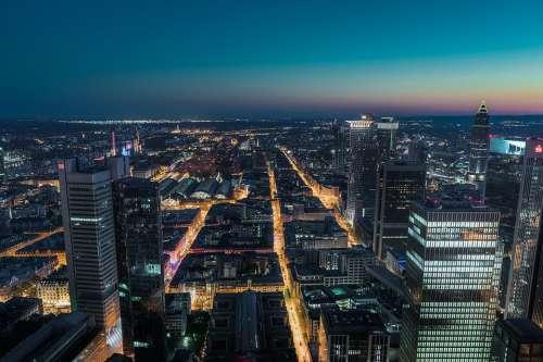 Frankfurt City Skyline Skyscraper Architecture