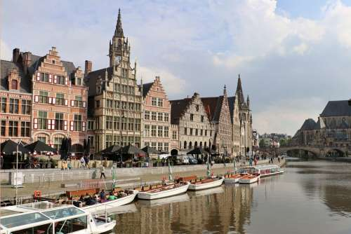 Gent Belgium City Flanders Architecture Building