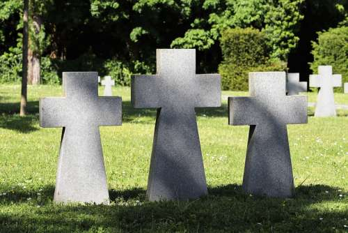 German Military Cemetery Second World War Crosses