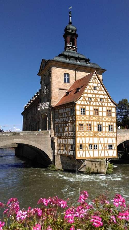 Germany Bamberg Architecture Bridge Historic