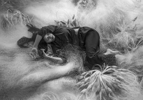Girl Sleep Fishing Net Rest Model Woman Beauty