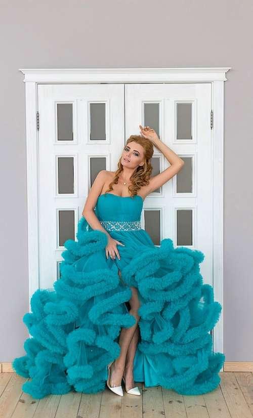 Girl Dress Portrait Door