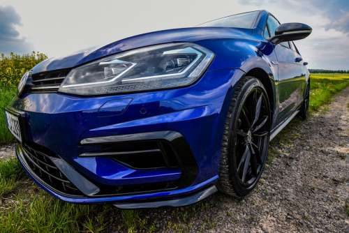 Golf R Volkswagen Auto Vehicle Speed Fast