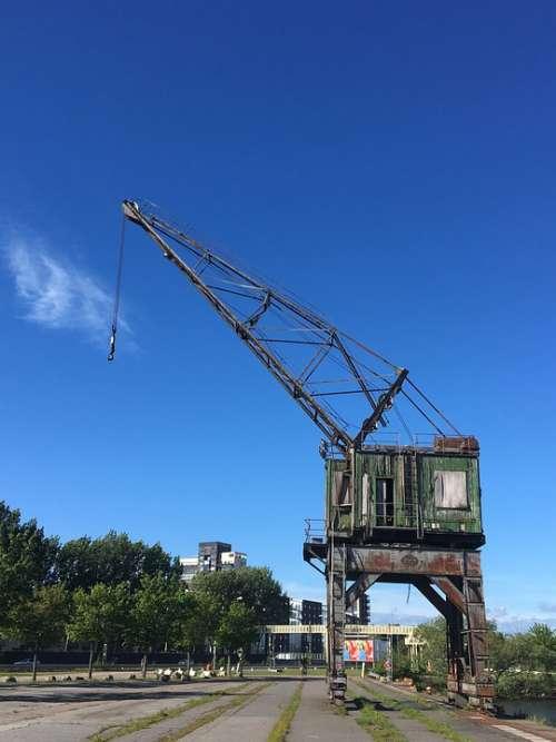 Gothenburg Tap Port Boatyard Industrial Crane
