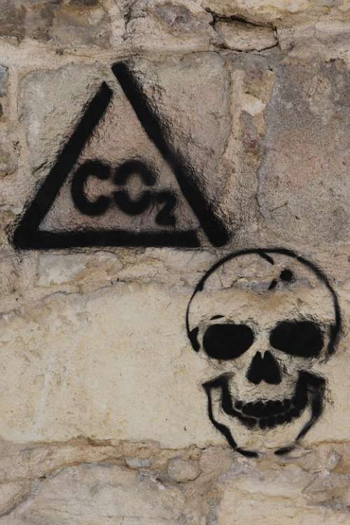 Graffiti On The Wall Co2 Dioxide Pollution Carbon