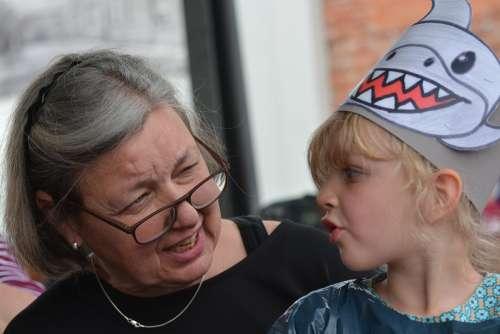 Granny Grandmother Woman Child Family Grandchild