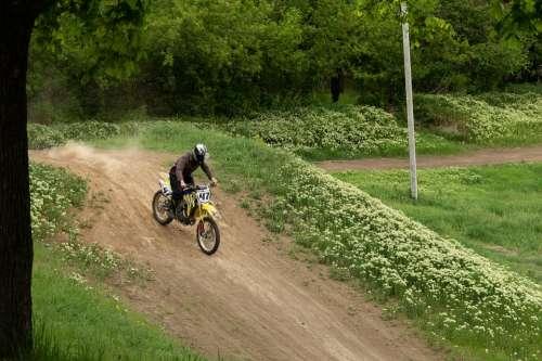 Greens Leaves Motocross Motorcycle Spring Green