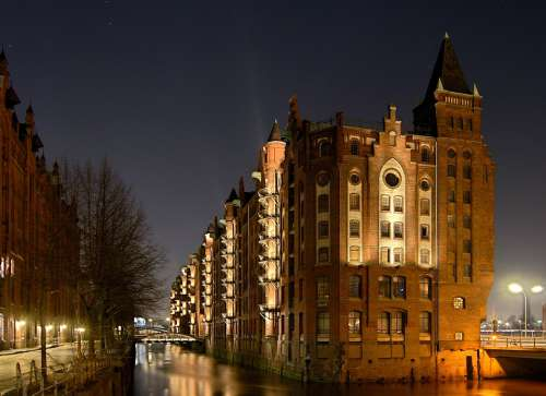 Hamburg Speicherstadt Architecture City Building
