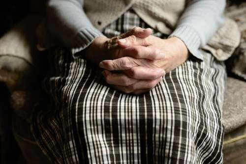 Hands Human Old Human Age Seniors Fold Skin