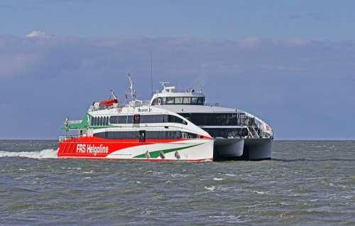 Helgoland Ferry Catamaran North Sea