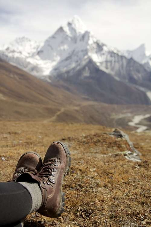 Hiking Relax Mountains Legs Boots Walking