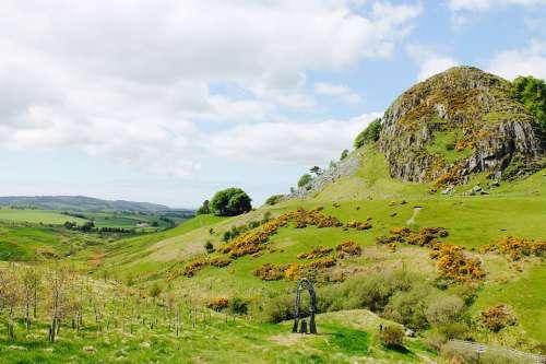 Hill Scotland Scenic Nature Landscape Panorama