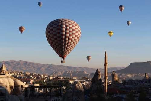 Hot Air Balloon Cappadocia Turkey Balloon Landscape