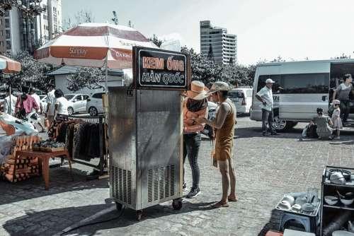 Ice Cream Vendor Icecream Ice Sell Refreshment