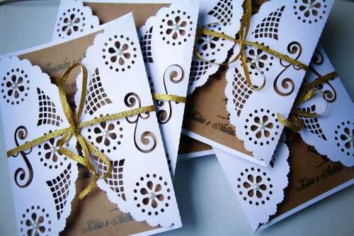 Invitation Marriage Scrapbooking Decorative