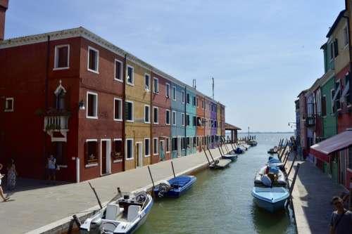 Italy Venice Burano Romantic Venetian Famous