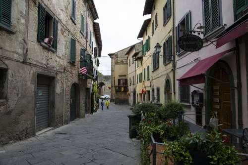 Italy Village Ancient Mediterranean Scenic Town