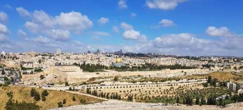 Jerusalem Israel Holy Places Panorama Travel