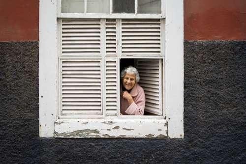 Lady Window Woman Portrait Old Architecture