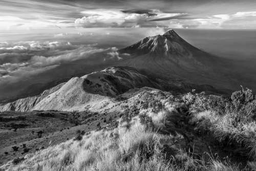 Landscape Mountain The Volcano Indonesia
