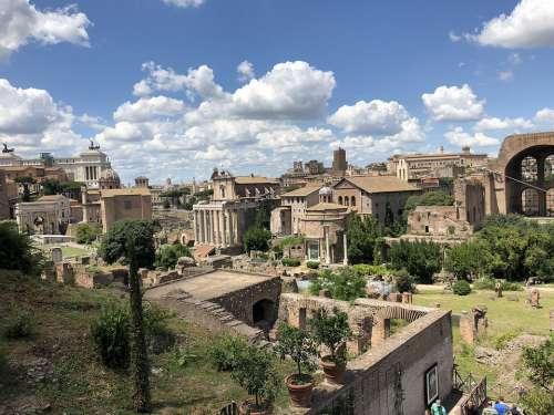 Landscape Rome Forum Historical