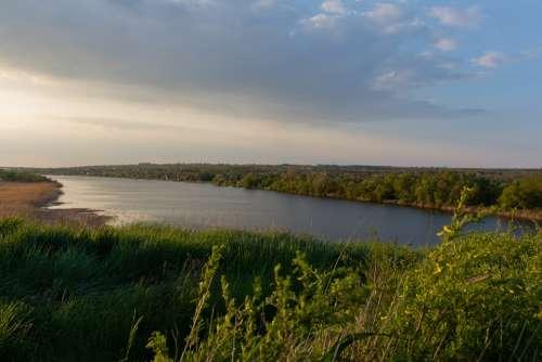Landscape Russian Landscape River Don Steppe Nature