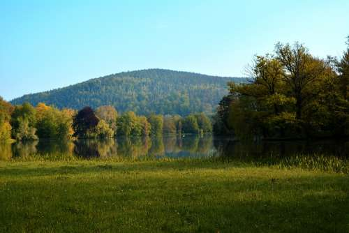 Landscape Park Greiz Park Lake Trees