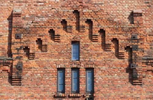 Latvia Liepaja Building Facade Brick Wall